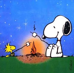 Snoopy camping