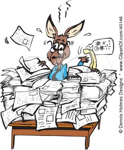 40146-Clipart-Illustration-Of-A-Busy-Kangaroo-Office-Worker-Buried-In-Paperwork-At-His-Desk