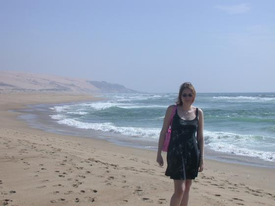 Hanna at the beach in CA
